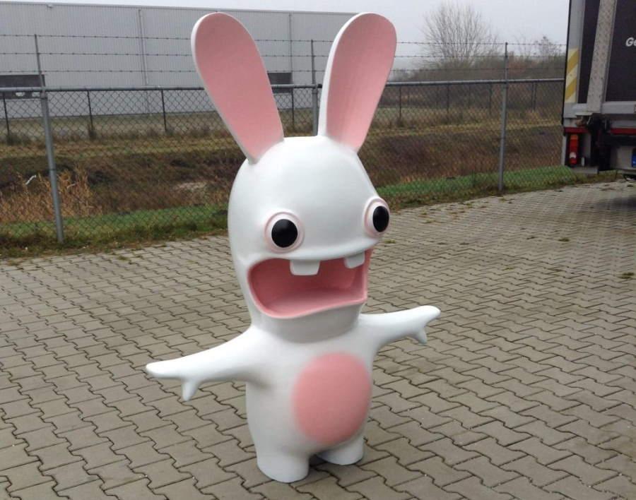 wit konijn van piepschuim